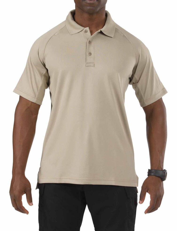 5.11 Tactical Performance Polo Short Sleeve Shirt - 3XL, Tan, hi-res