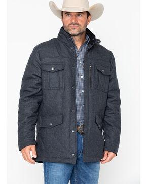 Cripple Creek Men's Quilt Snap Front Coat , Black, hi-res