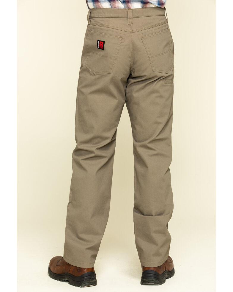 Wrangler Riggs Men's Brown Relaxed Ripstop Technical Work Pants , Bark, hi-res