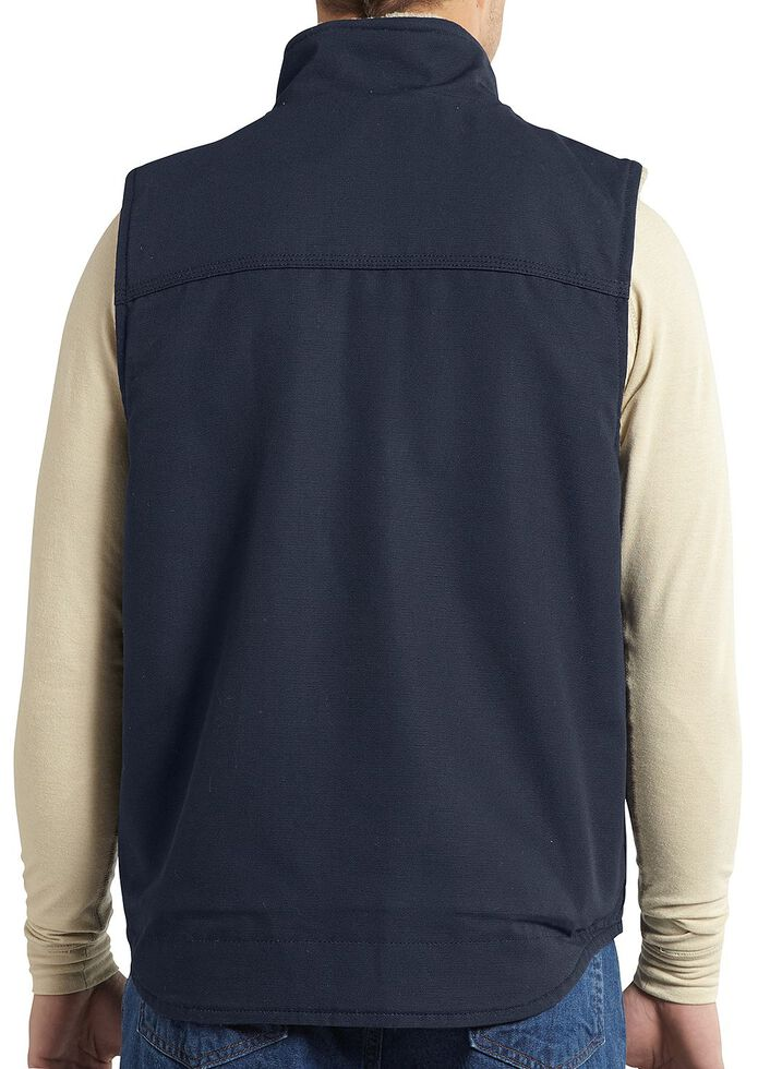 Carhartt Flame Resistant Mockneck Vest - Big & Tall, Navy, hi-res