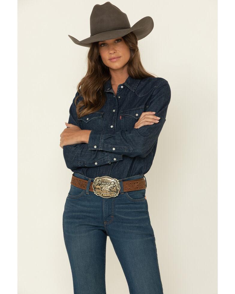 Wrangler Retro Women's Diane High Rise Trousers , Blue, hi-res
