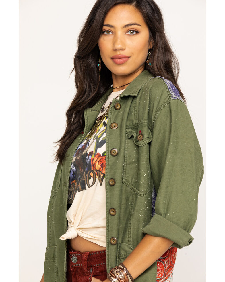 18a576fa8 Free People Women's Olive Spruce Military Jacket