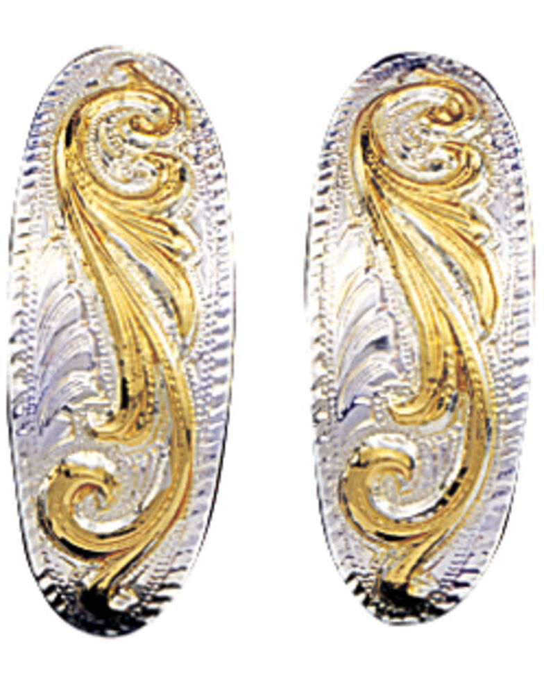 Montana Silversmiths Small Scroll Cuff Earrings, Multi, hi-res