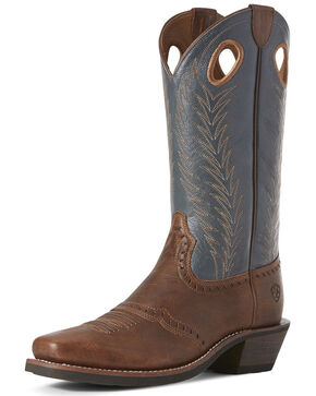 Ariat Women's Heritage Rancher Western Boots - Square Toe, Sand, hi-res