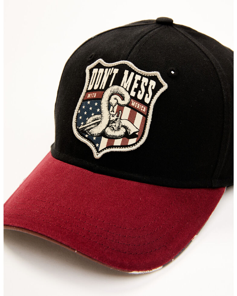 Cody James Men's Don't Mess With My Rights Patch Ball Cap , Black, hi-res