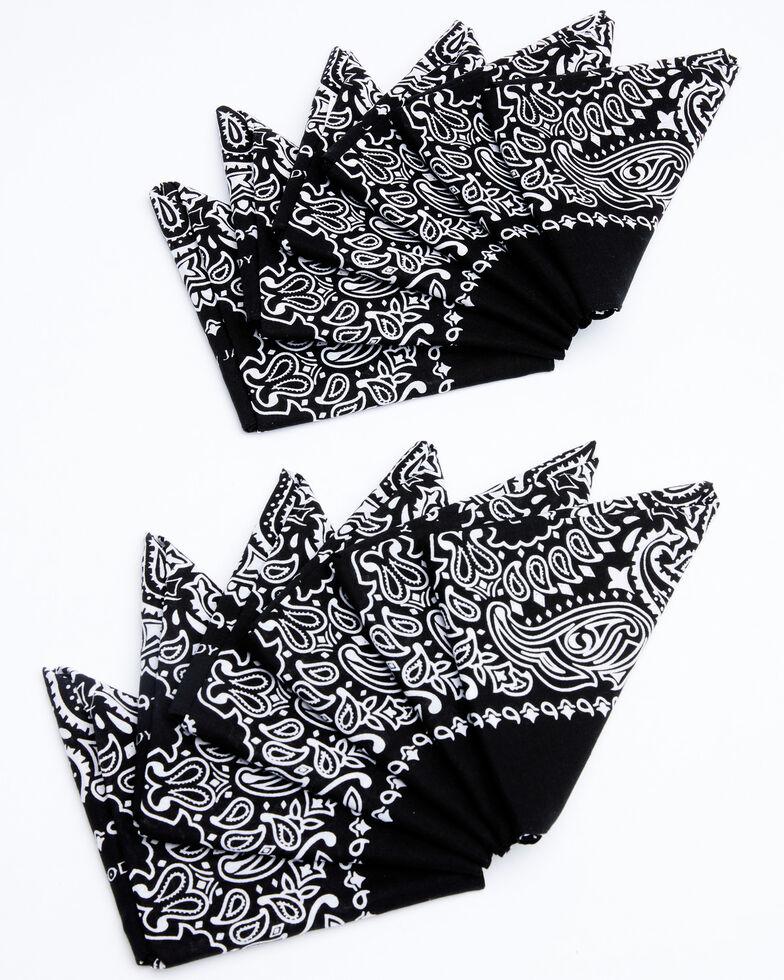Cody James Men's Black Bandana Facemasks, Black, hi-res