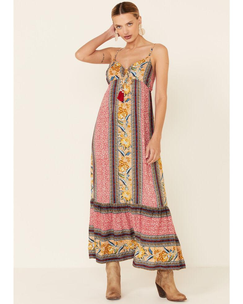 Band of Gypsies Women's Wilhelmina Maxi Dress, Multi, hi-res