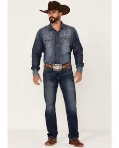 Ariat Men's M7 Pine Dark Wash Stretch Slim Straight Jeans , Blue, hi-res