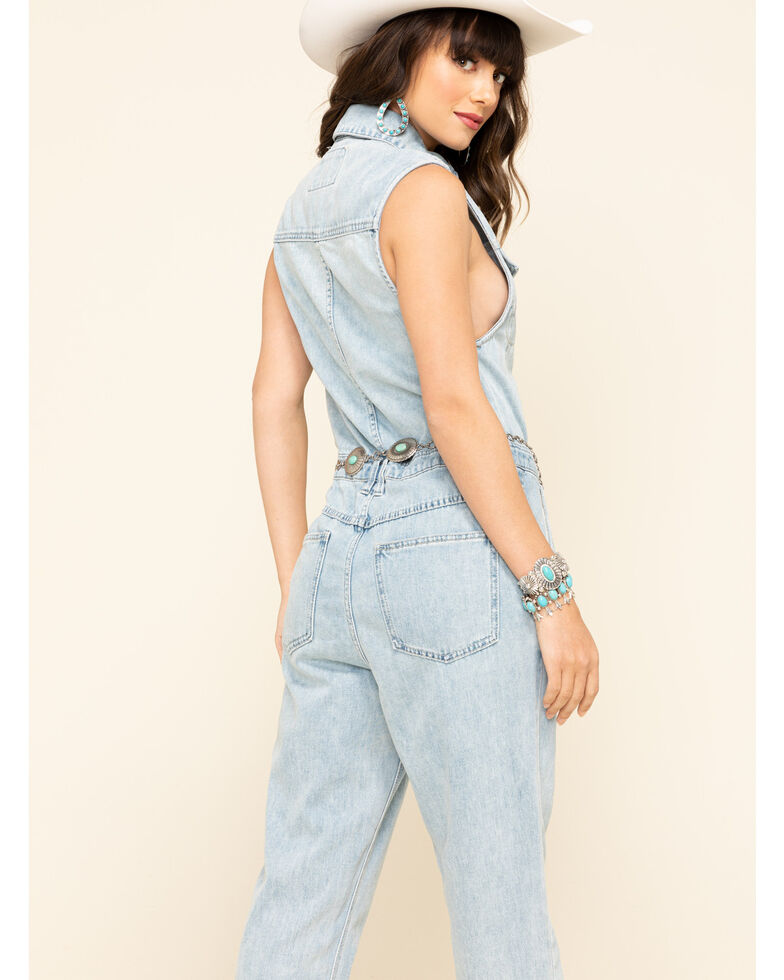 Free People Women's Fast Cars Jumpsuit , Blue, hi-res