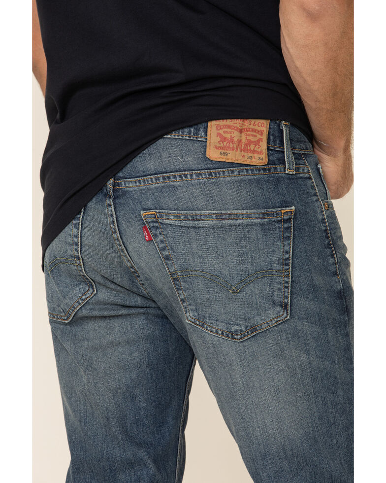 Levi's Men's 559 Funky City Stretch Relaxed Straight Fit Jeans , Blue, hi-res