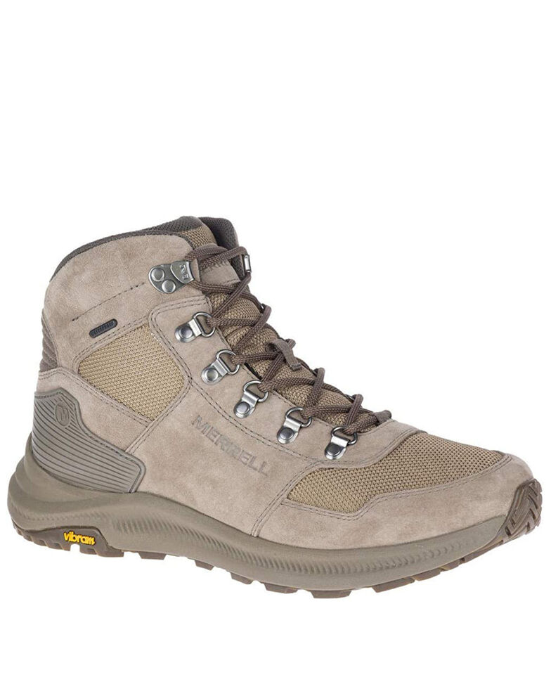 Merrell Men's Ontario Waterproof Hiking Boots - Soft Toe, Taupe, hi-res