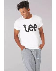 Lee Men's White Logo Short Sleeve T-Shirt , White, hi-res