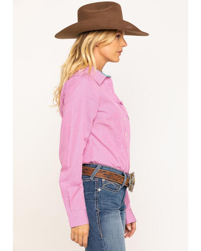 Cinch Women's Pink Stripe Core Button Long Sleeve Western Shirt, Pink, hi-res