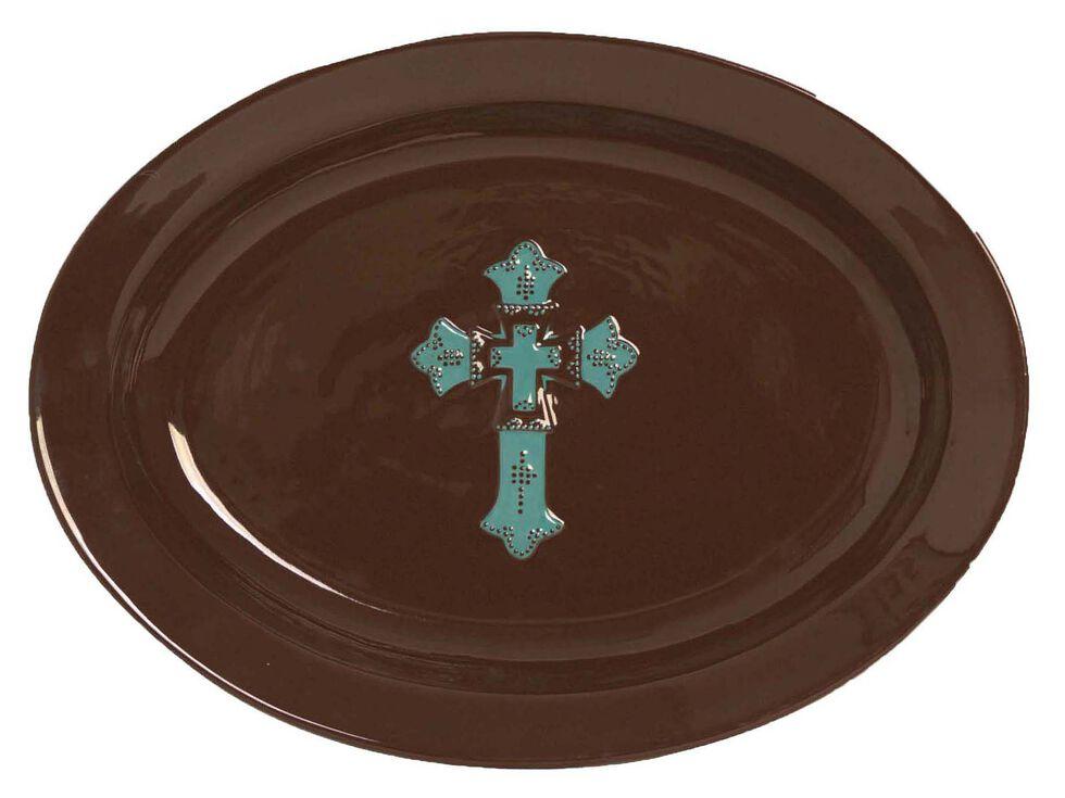 HiEnd Accents Cross Serving Platter, Brown, hi-res