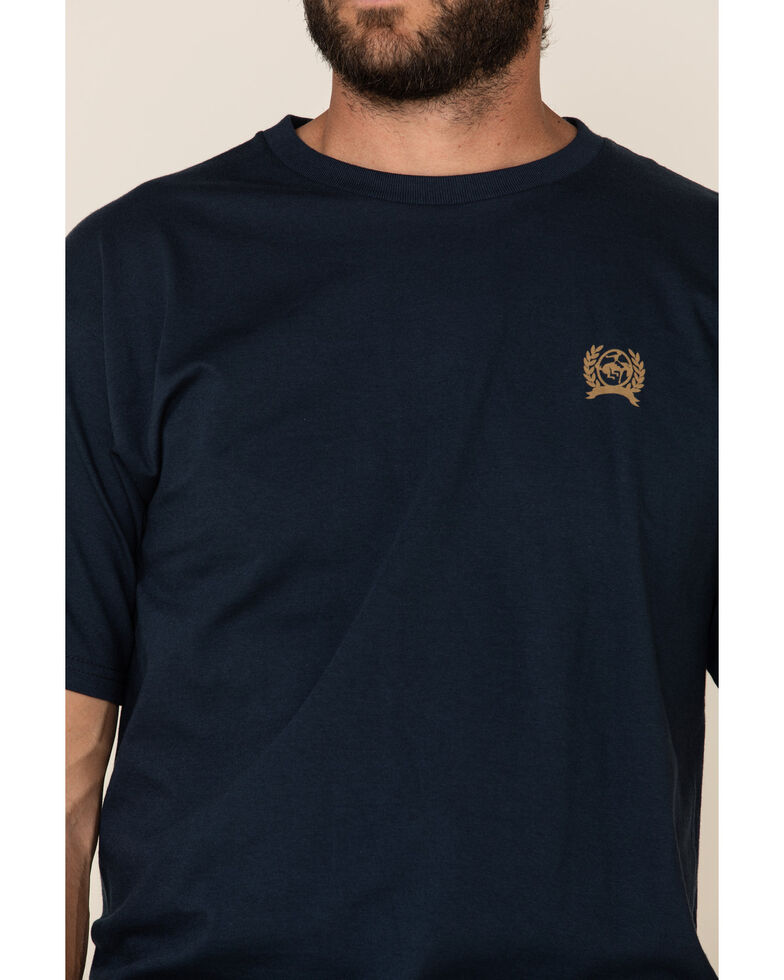 Cinch Men's Navy Grit Logo Graphic T-Shirt , Navy, hi-res