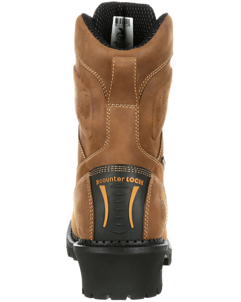 Georgia Boot Men's Comfort Core Waterproof Insulated Logger Boots - Composite Toe, Brown, hi-res