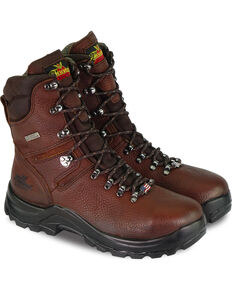 "Thorogood Men's 8"" Omni Waterproof Work Boots, Brown, hi-res"