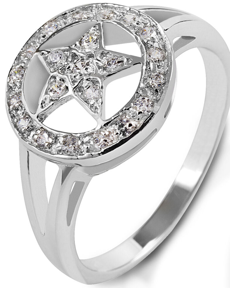 Kelly Herd Women's Small Star Ring , Silver, hi-res