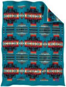 Pendleton Chief Joseph Muchacho Blanket, Turquoise, hi-res