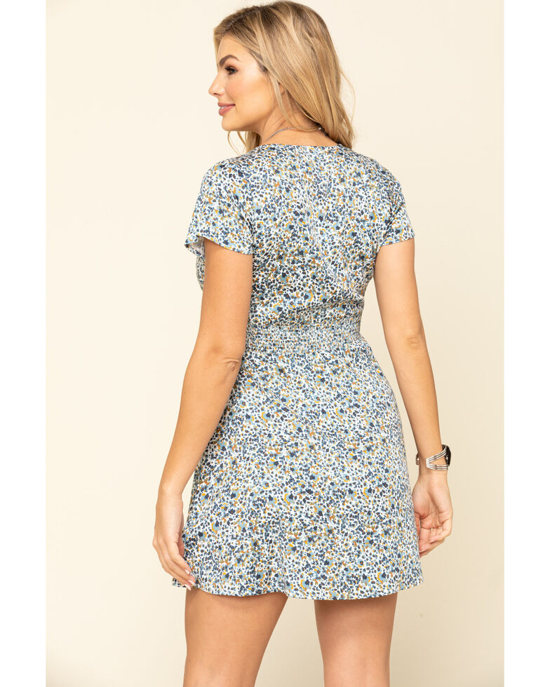 Idyllwind Women's Willow Floral Dress, Blue, hi-res