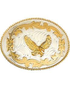 Western Express Men's German Eagle Belt Buckle , Silver, hi-res