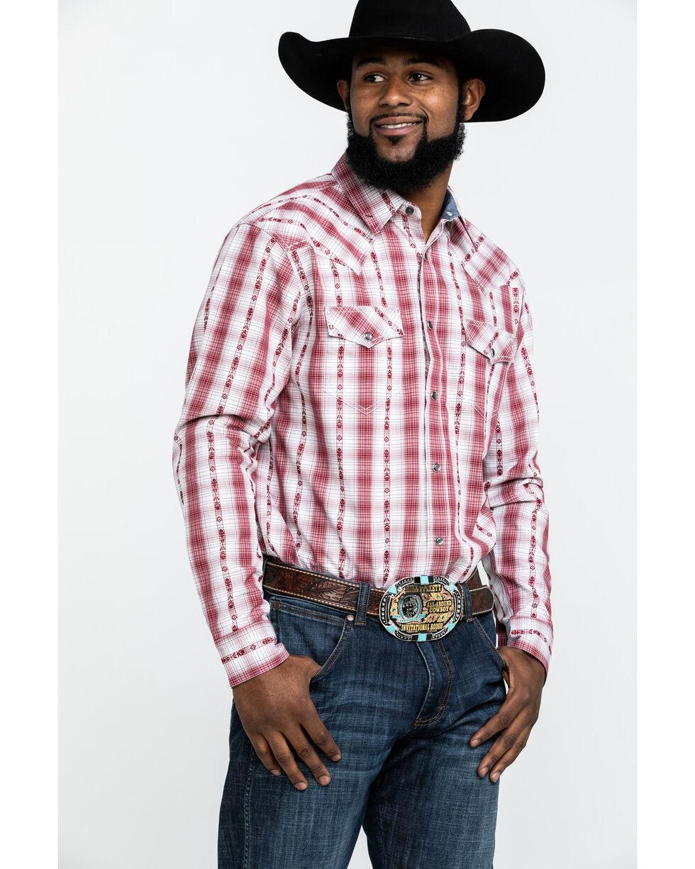 Cody James Men's Rodeo Rider Plaid Long Sleeve Western Shirt - Big , Red, hi-res