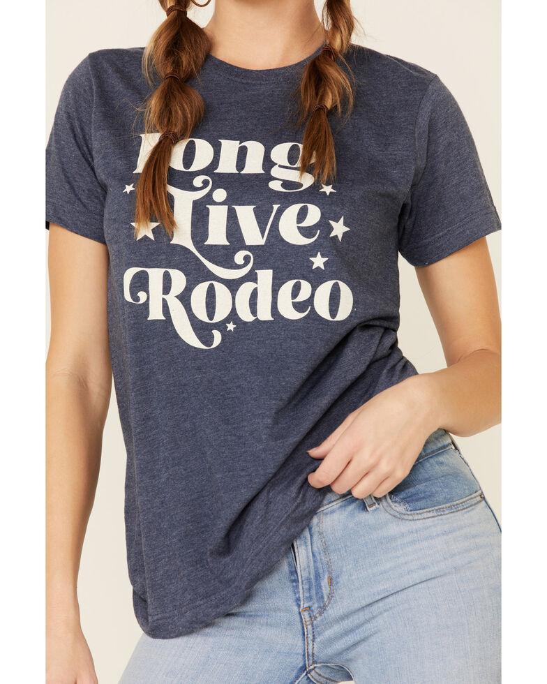 Ali Dee Women's Long Live Rodeo Graphic Tee , Navy, hi-res