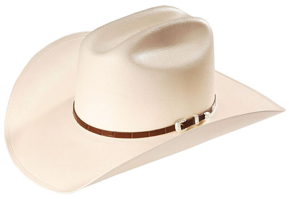 Stallion By Stetson Maximo 100X Straw Western Hat, Natural, hi-res