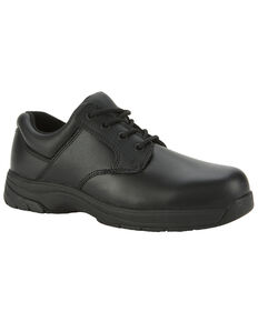 Rocky Slipstop Oxford Work Shoe - Plain Toe, Black, hi-res