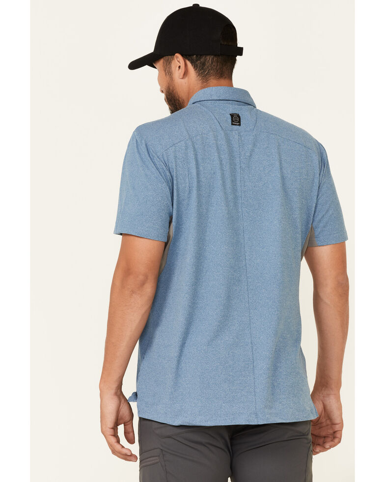 Wrangler ATS Men's All-Terrain Moroccan Blue Performance Short Sleeve Polo Shirt , Blue, hi-res