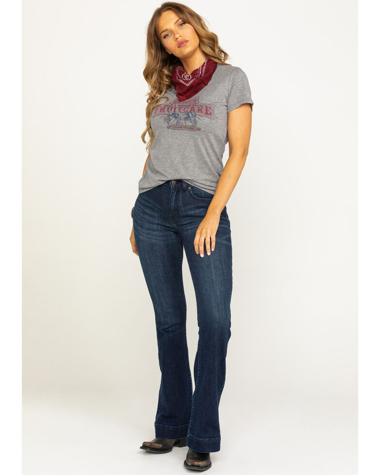 Idyllwind Women's Country Nights High Rise Fit And Flare Jeans, Blue, hi-res