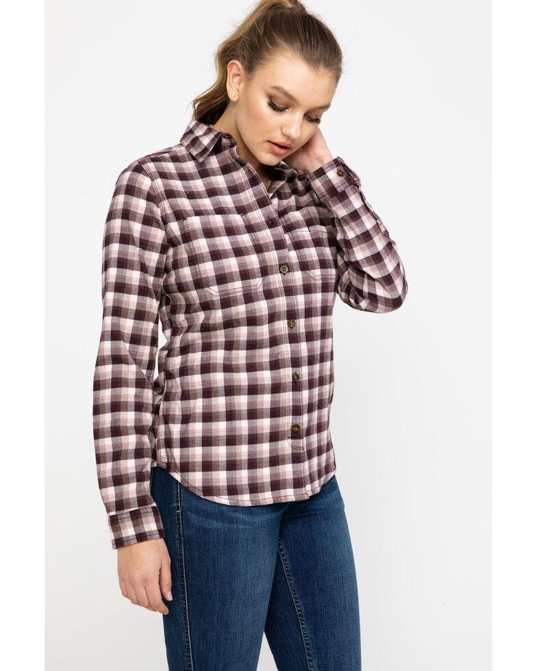 Carhartt Women's Rugged Flex Hamilton Flannel Work Shirt , Medium Pink, hi-res