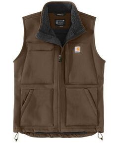 Carhartt Men's Brown Super Dux Relaxed Fit Sherpa-Lined Work Vest , Brown, hi-res