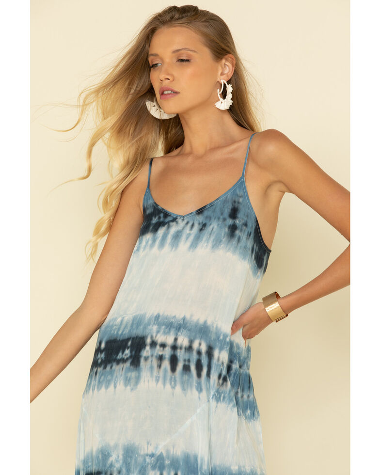 Rag Poet Women's Tie Dye Stripe Pura Dress, Blue, hi-res
