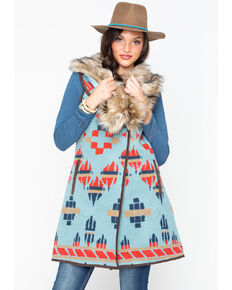 Tasha Polizzi Women's Old Ranch Vest, Blue, hi-res