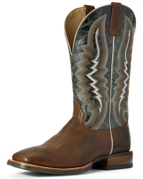Ariat Men's Relentless Latigo Western Boots - Wide Square Toe, Tan, hi-res