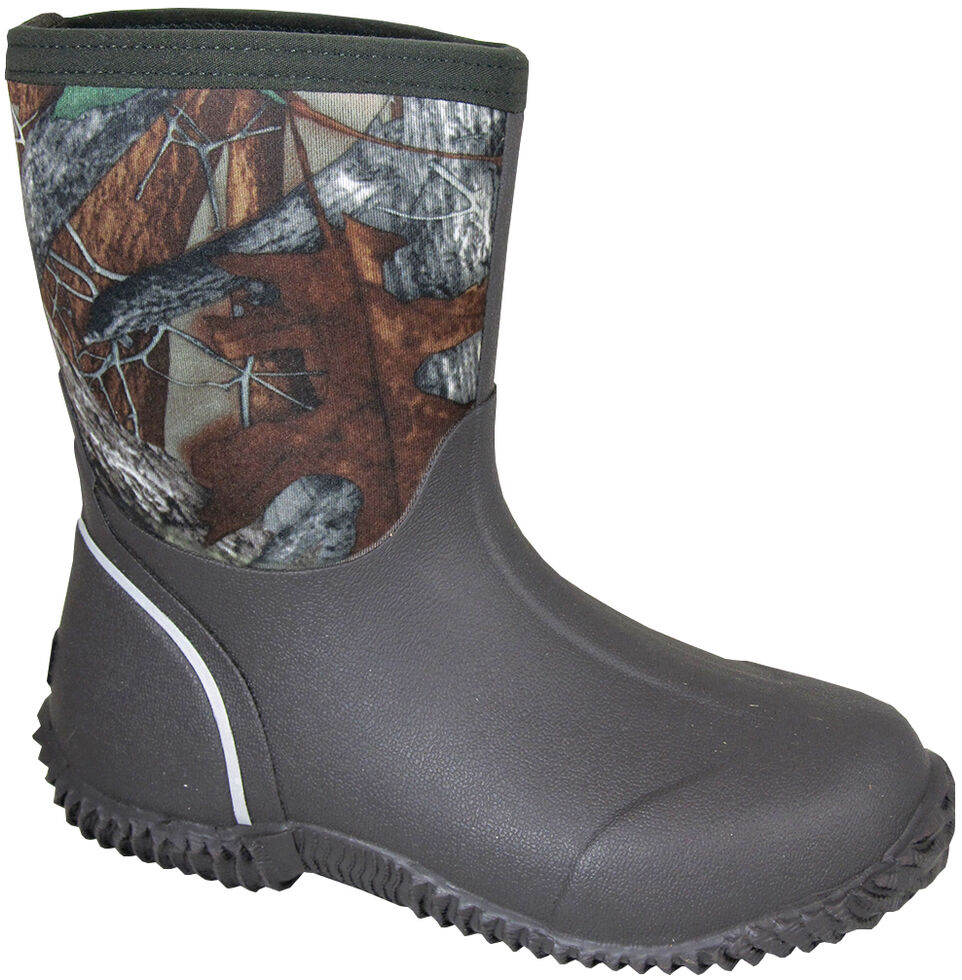 Smoky Mountain Toddler Boys' Amphibian Camo Waterproof Boots, Brown, hi-res
