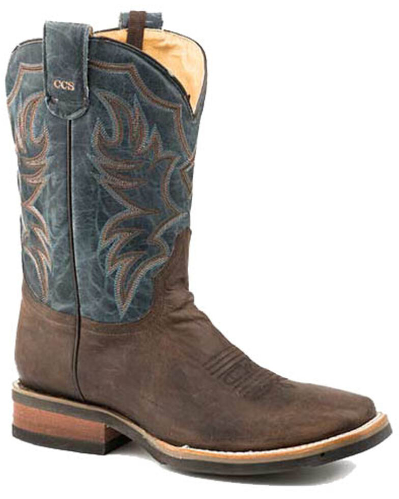 Roper Men's Marksman Western Boots - Square Toe, Brown, hi-res