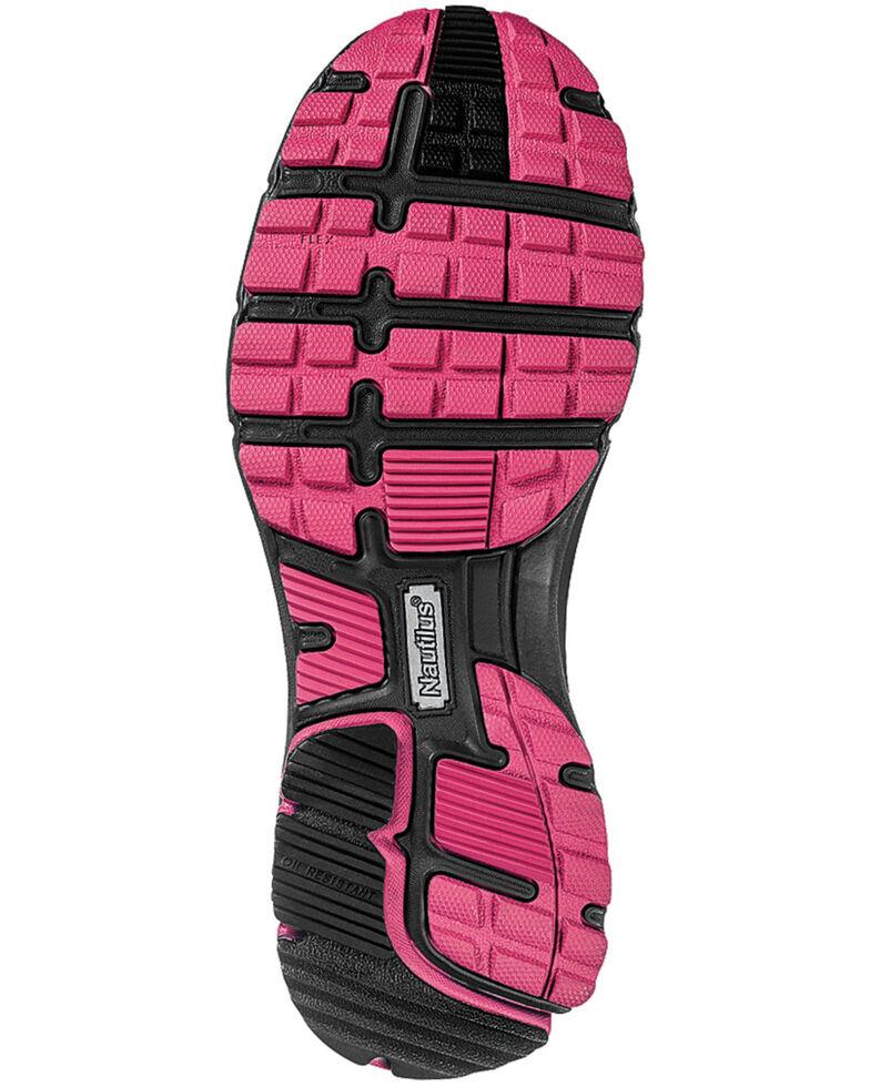 Nautilus Women's Pink & Grey Lightweight ESD Athletic Work Shoes - Steel Toe , Grey, hi-res