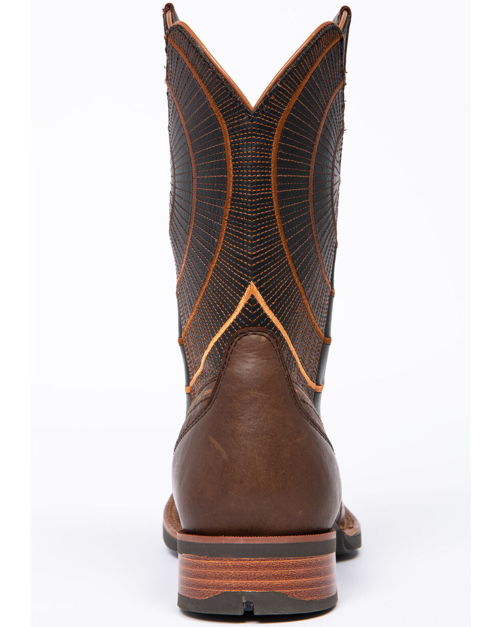 Cody James Men's Extreme Circle Western Boots - Wide Square Toe, Brown, hi-res