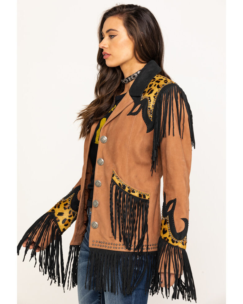 Double D Ranch Women's Saddle Texas Two Step Jacket, Brown, hi-res