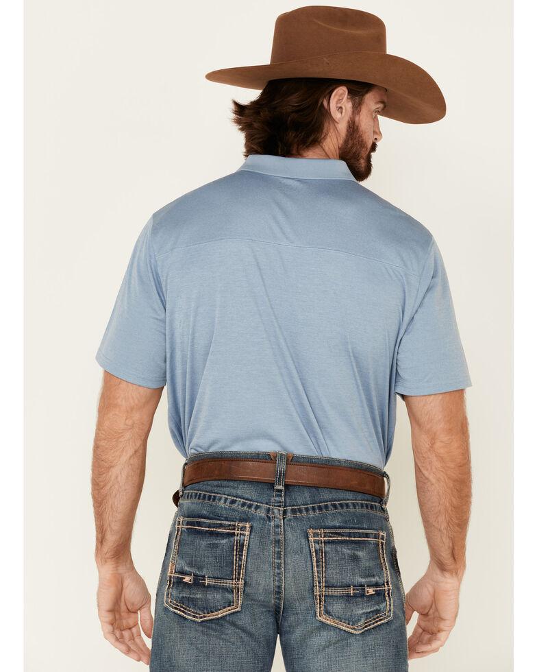 Cody James Core Men's Light Blue Burmuda Heather Short Sleeve Polo Shirt , Light Blue, hi-res