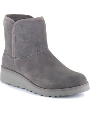 UGG Women's Grey Kristin Boots - Round Toe, Grey, hi-res