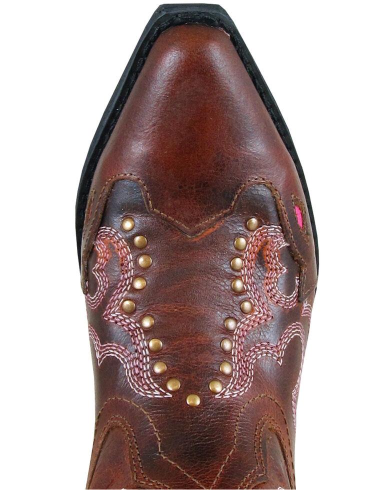 Smoky Mountain Girls' Moonbay Western Boots - Snip Toe, Brown, hi-res