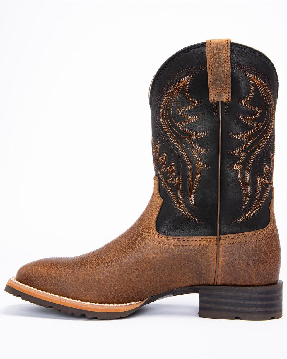 Ariat Men's Hybrid Ranch Earth Cowboy Boots - Square Toe, Tan, hi-res