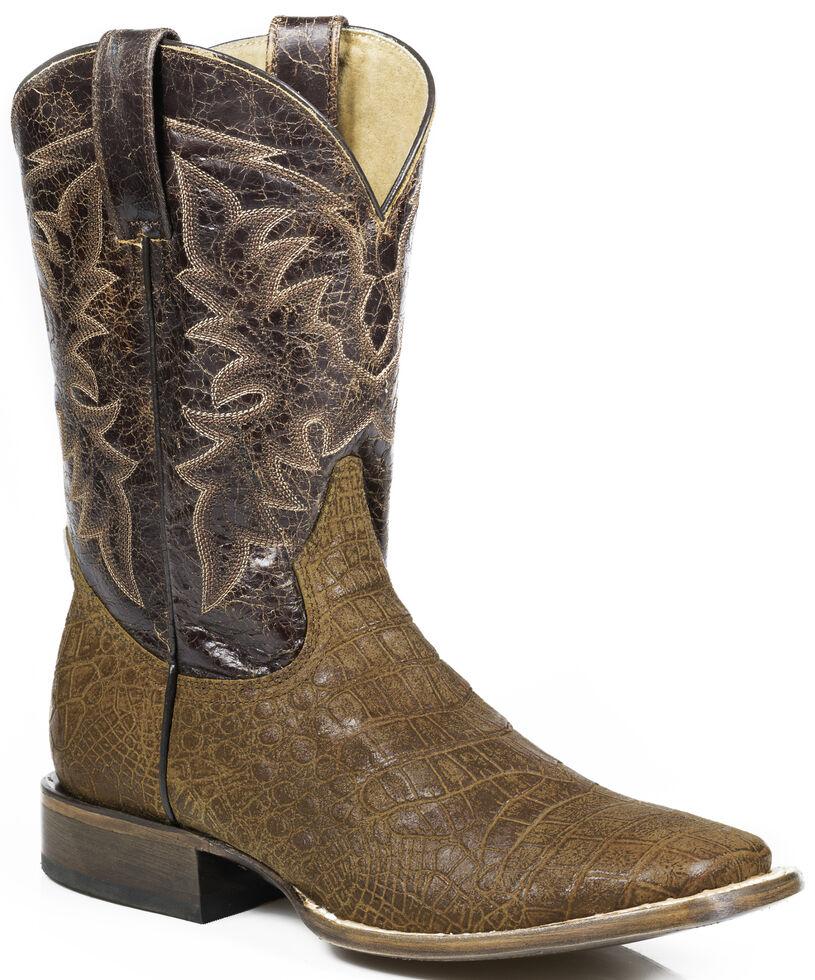 a06f0180030 Roper Alligator Print Cowboy Boots - Wide Square Toe
