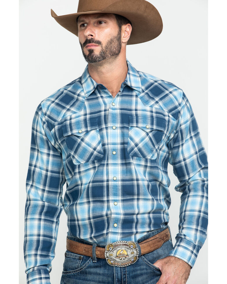 Ariat Men's Jupiter Retro Large Plaid Long Sleeve Western Shirt , Multi, hi-res
