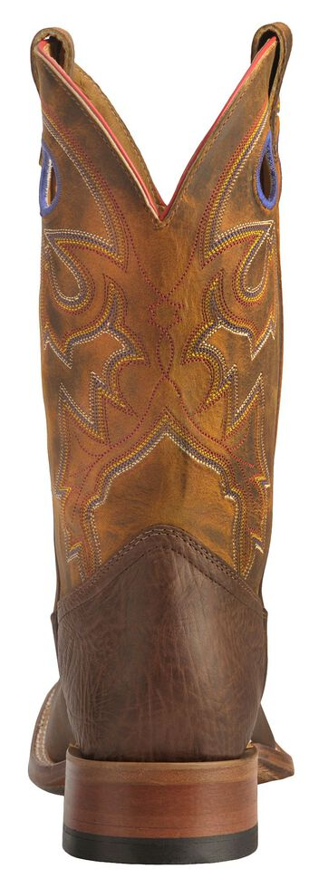Boulet Men's Stockman Western Boots - Wide Square Toe, Tan, hi-res