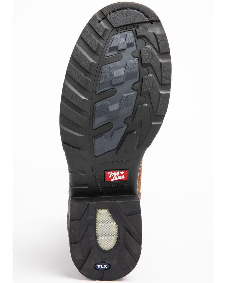 Tony Lama Men's Sierra Badlands Waterproof Work Boots - Composite Toe, Brown, hi-res
