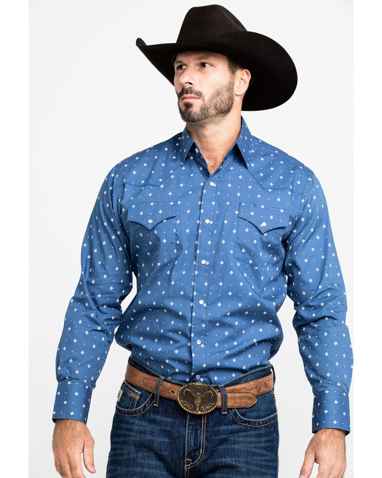 Ely Walker Men's Assorted Multi Geo Print Long Sleeve Western Shirt , Multi, hi-res